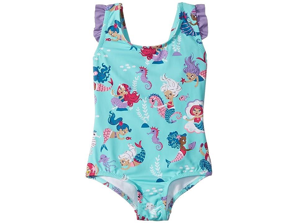 Hatley Kids Underwater Kingdom Ruffle Swimsuit (Toddler/Little Kids/Big Kids) (Aqua) Girl