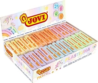 Jovi Plastilina Reusable & Non-Drying Modeling Clay; 1.75 Oz. Bars, Set of 30, 5 Each of 6 Pastel Colors, Perfect for Arts...