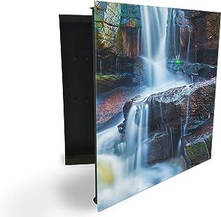 Armoire à clés 30x30 cm avec panneau magnétique en verre impression numérique fond 94297180