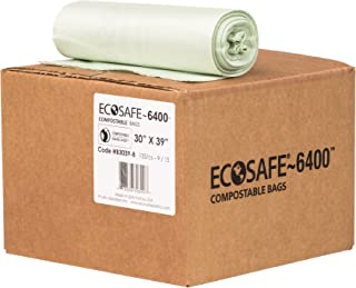 EcoSafe-6400 HB3039-8 Certified Compostable Bag, 30-Gallon, Green (Pack of 135)