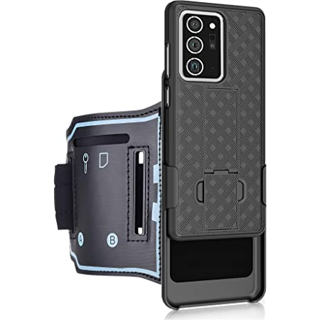 Chuangxinfull Samsung Galaxy Note 20 Ultra 5G Sport Armband, Open Face Armband Ideal for Fitness Apps. Hybrid Hard case Cover with Sport Armband Combo for Sports Jogging Exercise (Note 20 Ultra)