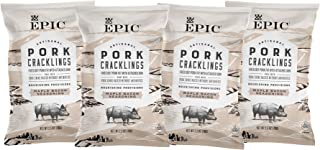 EPIC Maple Bacon Pork Cracklings, Keto Consumer Friendly, 4 Count Box 2.5oz bags