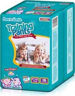 Pure 'n Gentle Training Pants for Girls and Boys,  X-Large,  72 Count