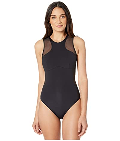Stella McCartney Graphic Scuba One-Piece (Black) Women