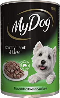 MY DOG Country Lamb and Liver Wet Dog Food 400g Can, 24 Pack, Adult, Small/Medium