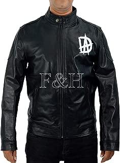 F&H Men's Synthetic Leather Jonathan David Good Dean Ambrose DA Logo WWE Jacket L Black