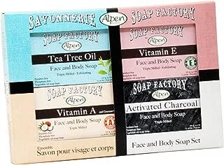 Alpen Secrets Soap Factory 4 Piece Face and Body Soap Set