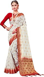 Best red and white sari Reviews