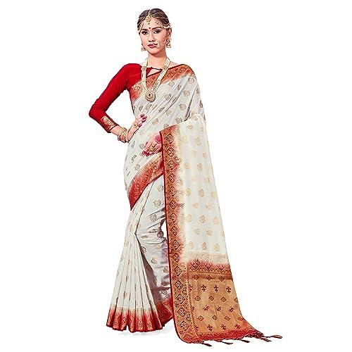 db1b7f6c68 Sarees Women Banarasi Art Silk Woven Saree l Indian Wedding Gift Sari  Unstitched Blouse