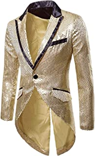 LRWEY Mens Tuxedo Tailcoat Swallowtail Suit Jacket Dinner Party Suit Wedding Blazer Slim Fit Show Tux Party Tuxedo