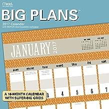Big Plans  Wall Calendar (2017)