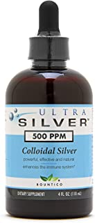 Ultra Silver® Colloidal Silver | 500 PPM, 4 Oz (118mL) | Mineral Supplement | True Colloidal Silver - with Dropper