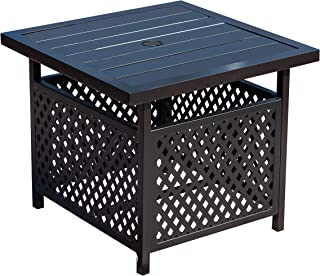 LOKATSE HOME Patio Umbrella Side Table Stand Steel with 1.57