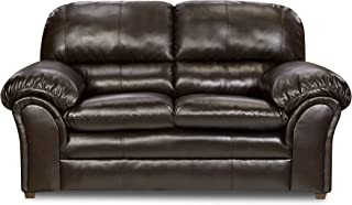 Simmons Upholstery Bonded Leather Loveseat