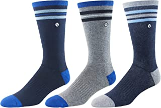 Men's 3 Pack Athletic Socks - Running, Basketball, Sports Training By VYBE