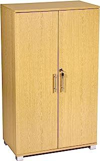 Armoire de rangement en hêtre de bureau 2 portes classeur à verrouillage sécurisé 120cm de hauteur 70(w) x 40(d) x 120(h)