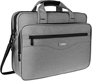 Laptop Bag For Women Men, 15.6 Laptop Briefcase, Travel Crossbody Shoulder Bag For Business Office, Durable Water Resistant Professional 15.6 Inch Laptop Case, Portable Attache Bag For Hp Lenovo,Grey