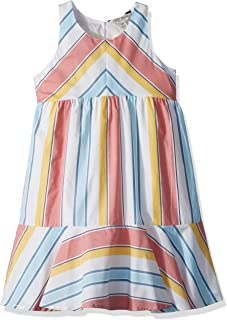 Lucky Brand Girls' Sleeveless Stripe Fashion Dress
