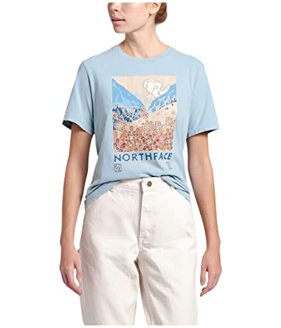 The North Face Berkeley Short Sleeve Tee (Angel Falls Blue Wash) Women