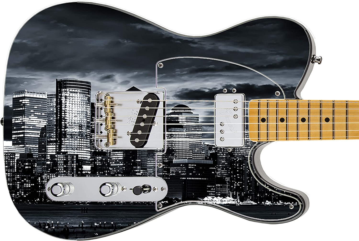 028 Righty specialty Dallas Mall shop Electric Guitar Skin City Nights For Crazy those