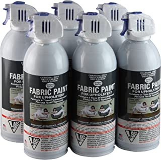 Simply Spray Upholstery Fabric Spray Paint 8 Oz. Can 6 Pack Charcoal Grey