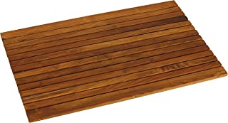Bare Decor COSI Shower Mat in Solid Teak Wood Oiled Finish, 31.5