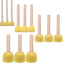 BLUECELL 12-Pieces Assorted Size Round Sponges Brush Set, Paint Tools For Kids