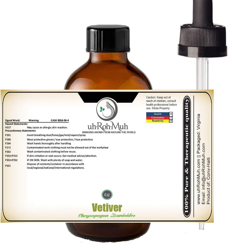 Vetiver Essential Oil Chrysopogon Zizanioides Max 57% OFF half Unadu Pure