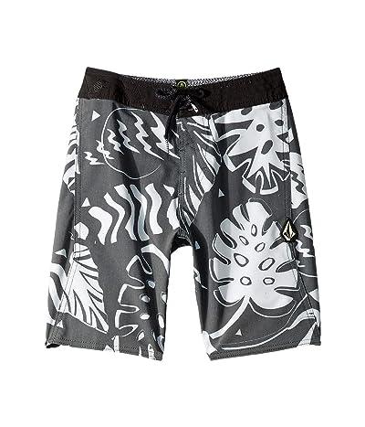 Volcom Kids Scrap Boardshorts (Big Kids) (Black/White) Boy