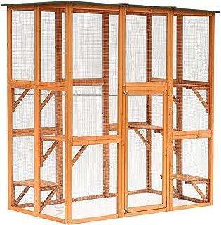 PawHut Large Wooden Outdoor Cat Enclosure Catio Cage