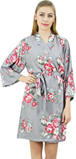 Bimba Women's Floral Printed 3/4 Sleeve Bridesmaid Robe Coverup Wedding-8