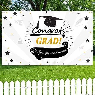 "Graduation Banner,Graduation Party Supplies 2021 - Extra Large 74.8"" x 47"", 2021 Congrats Grad Decorations & Supplies"