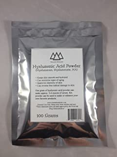 Hyaluronic Acid Powder 25, 50, 100, 1000 Grams (Wasatch Naturals) (100 Grams)