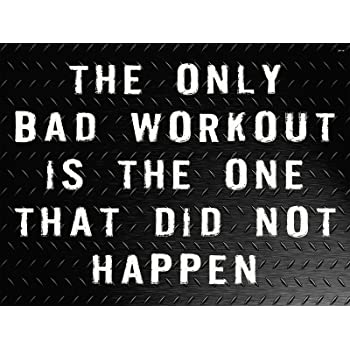 Amazon Com Workout Poster Gym Quotes Fitness Motivation Poster 18x24 Wo115 Posters Prints