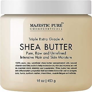 Majestic Pure Shea Butter - raw unrefined Premium Grade - 16 Oz