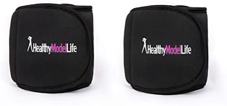 HEALTHYMODELLIFE Ankle Weights Set by Healthy Model Life - 1lb, 2lb, 5lb and 8lb Sets - As Worn by Victoria Secret Angels - Used in Top Gyms in New York