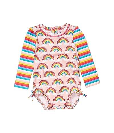 Hatley Kids Magical Rainbows Rashguard Swimsuit (Infant) (Pink) Girl