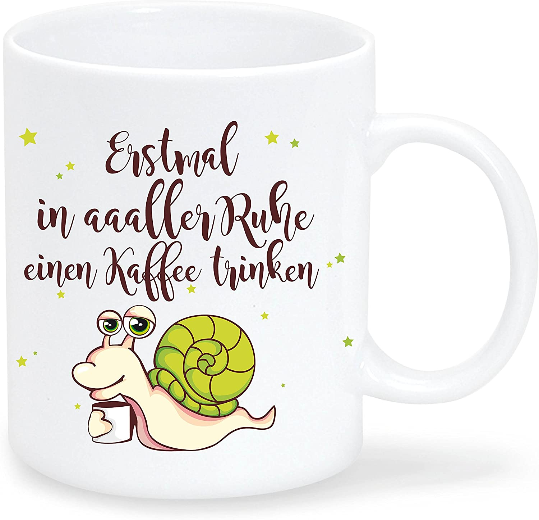 """Kaffeetasse Einhorn /""""Nur Verrückte hier./"""" von Wandtattoo-Loft® T160B Keramik"""