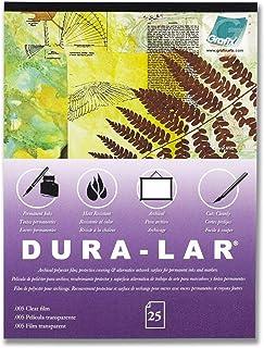 ملصق شفاف 28 × 35.5 سم، بطانة من 25 قطعة - طبقة ألترا 7.6 سم من دورا-لار، بديل الأسيتات، سطح لامع للأغطية الواقية والاستنس...