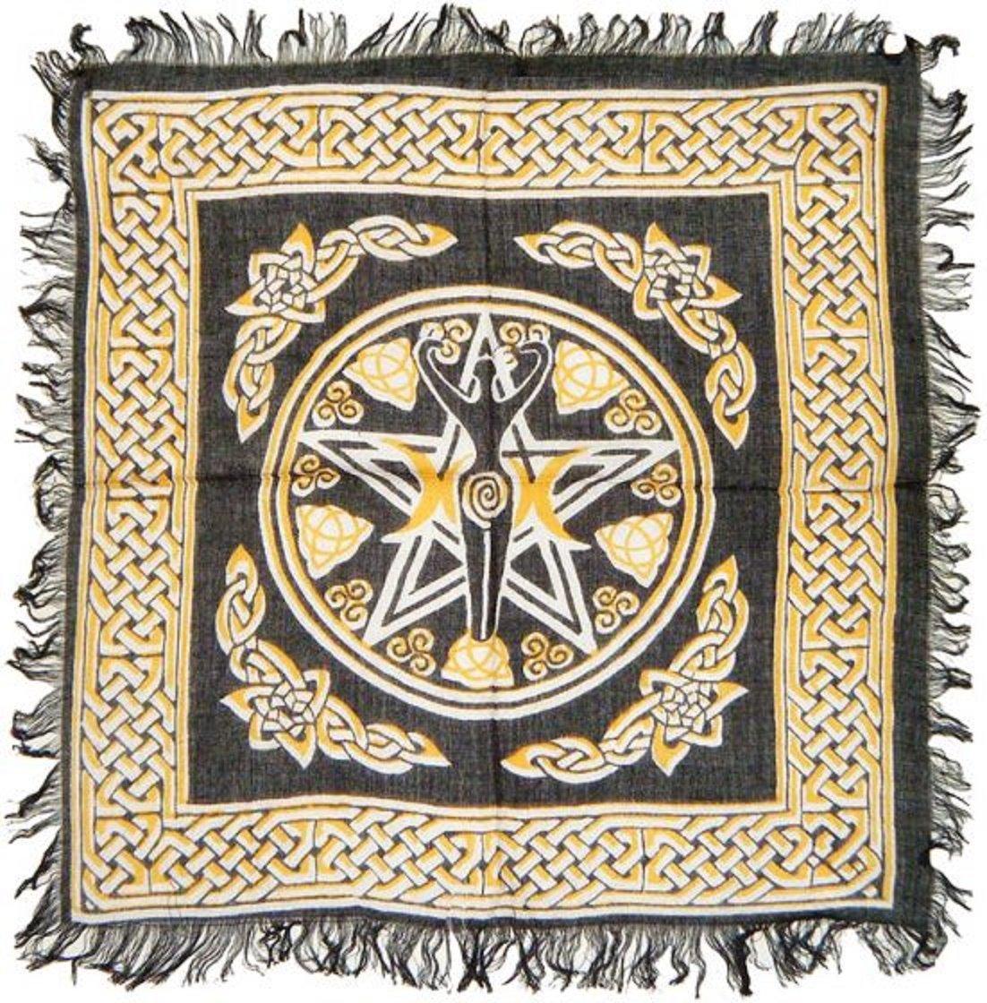 Pentagram Goddess Alter Cloth