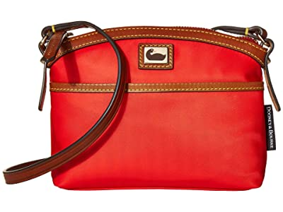 Dooney & Bourke Camden Domed Crossbody (Red/Dark Chocolate Trim) Cross Body Handbags