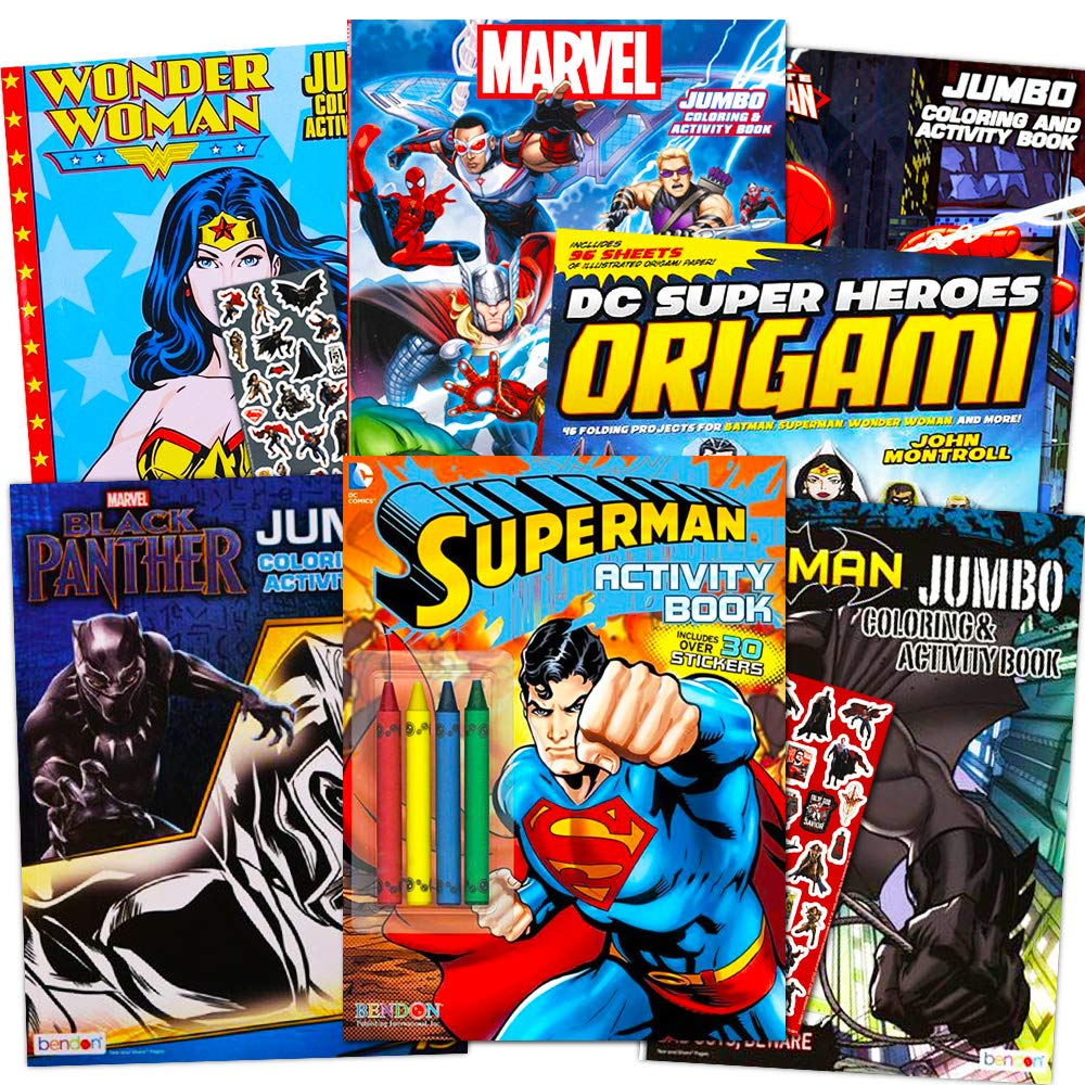 Superhero Giant Coloring Book Assortment ~ 7 Books Featuring ...