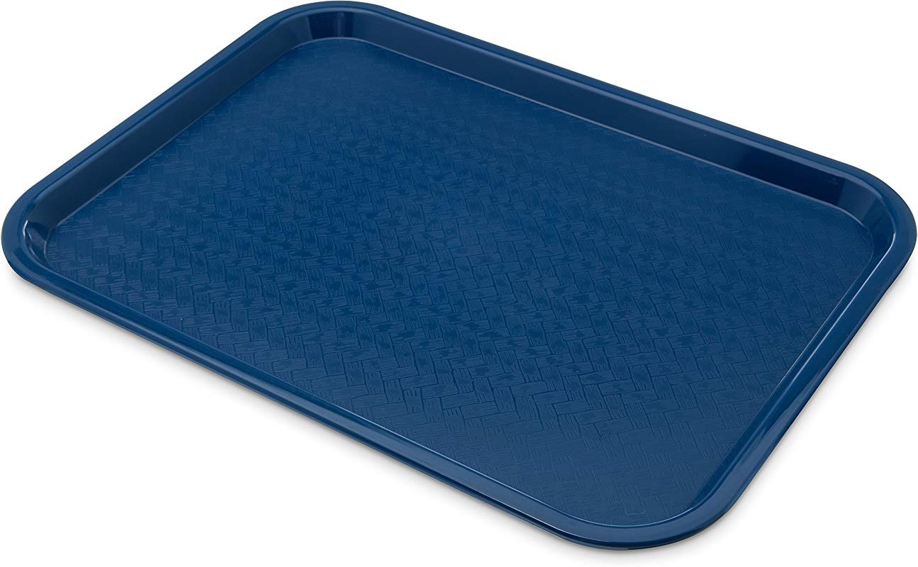 Carlisle CT121614 Caf Standard Cafeteria Fast Food Tray 12 X 16 Blue