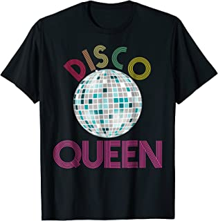 Disco Queen Shirt 1970s Halloween Costume Retro Disco Ball
