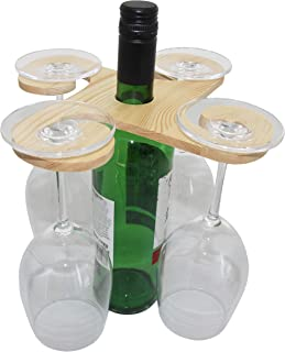 Portabotellas de Vino de Acero Inoxidable para Barco de la Luna marr/ón Fantes