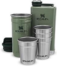 Stanley Adventure Pre-Party Shot Glas + Flessenset Hammertone Groen - BPA vrij roestvrij staal - RVS fles - Gift set - Vaa...