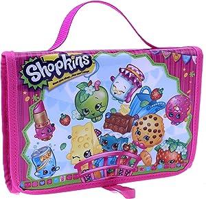 Shopkins Toy Carry Case Tri-Fold Storage Organizer - 6 Internal Storage Compartments