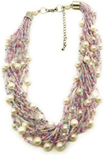 DCA Glass Brass Necklace for Women