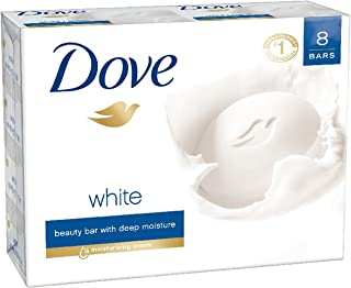 Dove Beauty Bar, White, 4 oz, 8 Bar