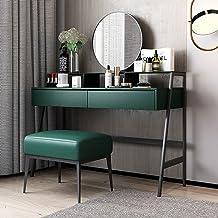 Vanity Makeup Table Set Modern Dressing Table Organiser Set Bedroom Bathroom Dressing Table Table+Mirror+Stool High-Defini...